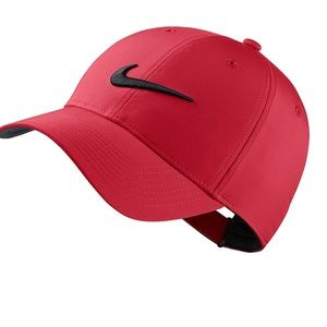 Nike dry-fit red adult unisex golf hat